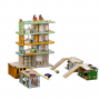 Кукольный домик Радужная Многоэтажка с Автокомплексом