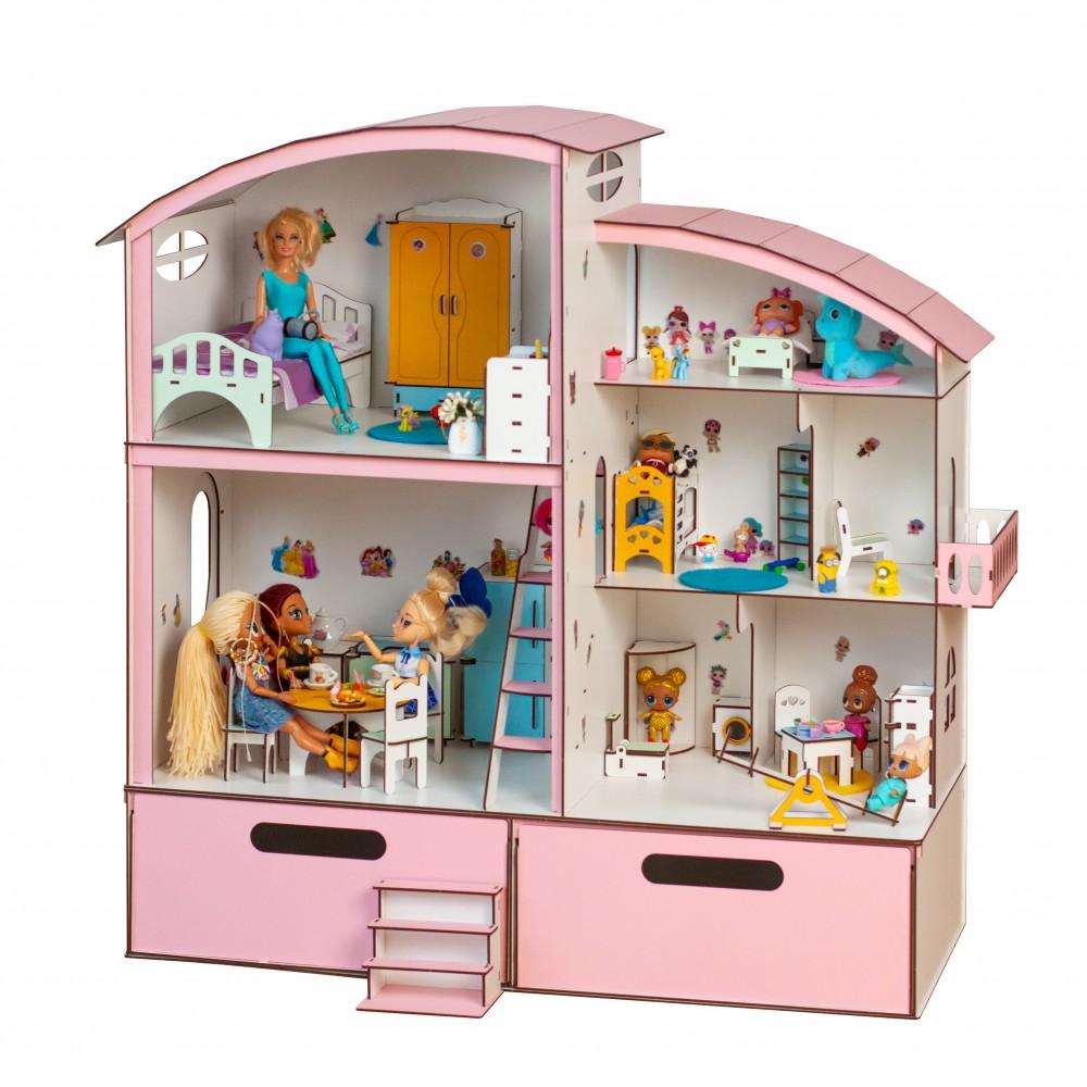Кукольный домик Гулливер с боксом для игрушек