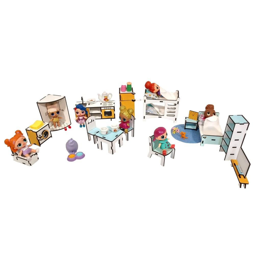 Большой набор мебели для кукол LOL