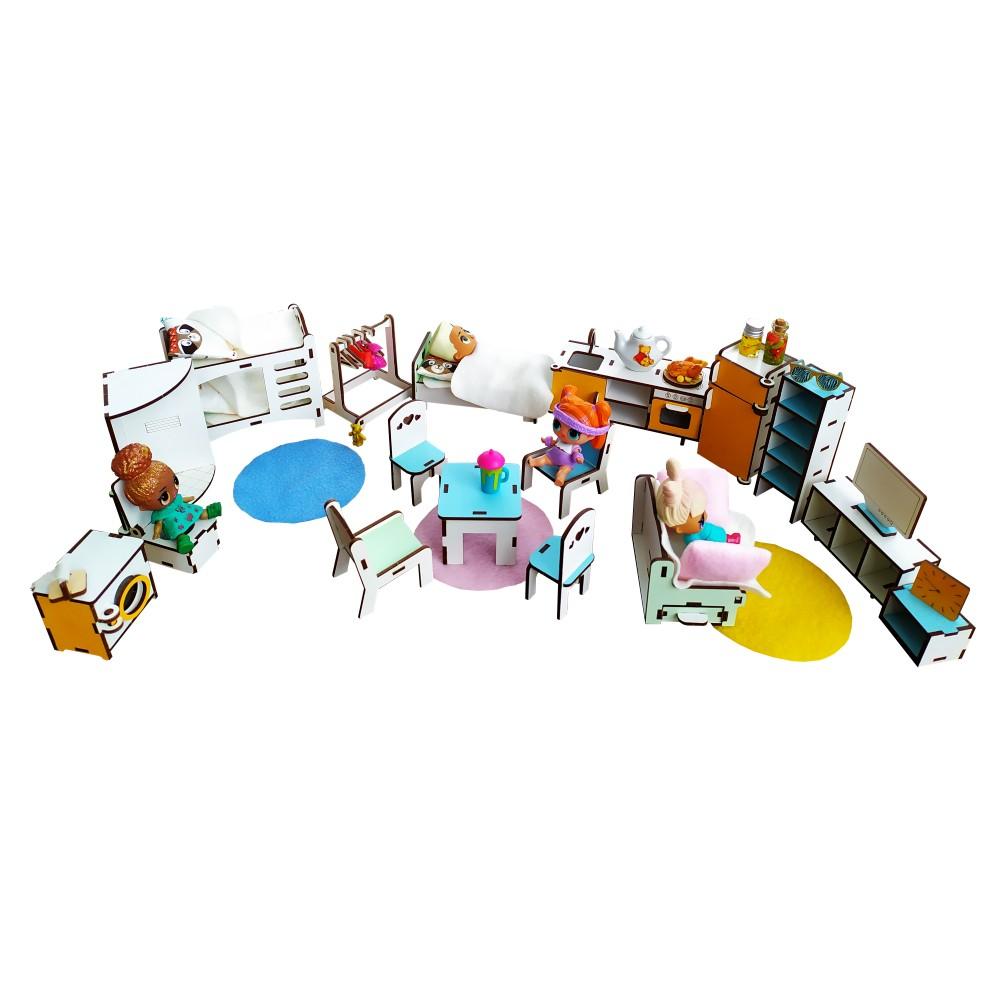 Большой набор мебели для кукол LOL 20 единиц