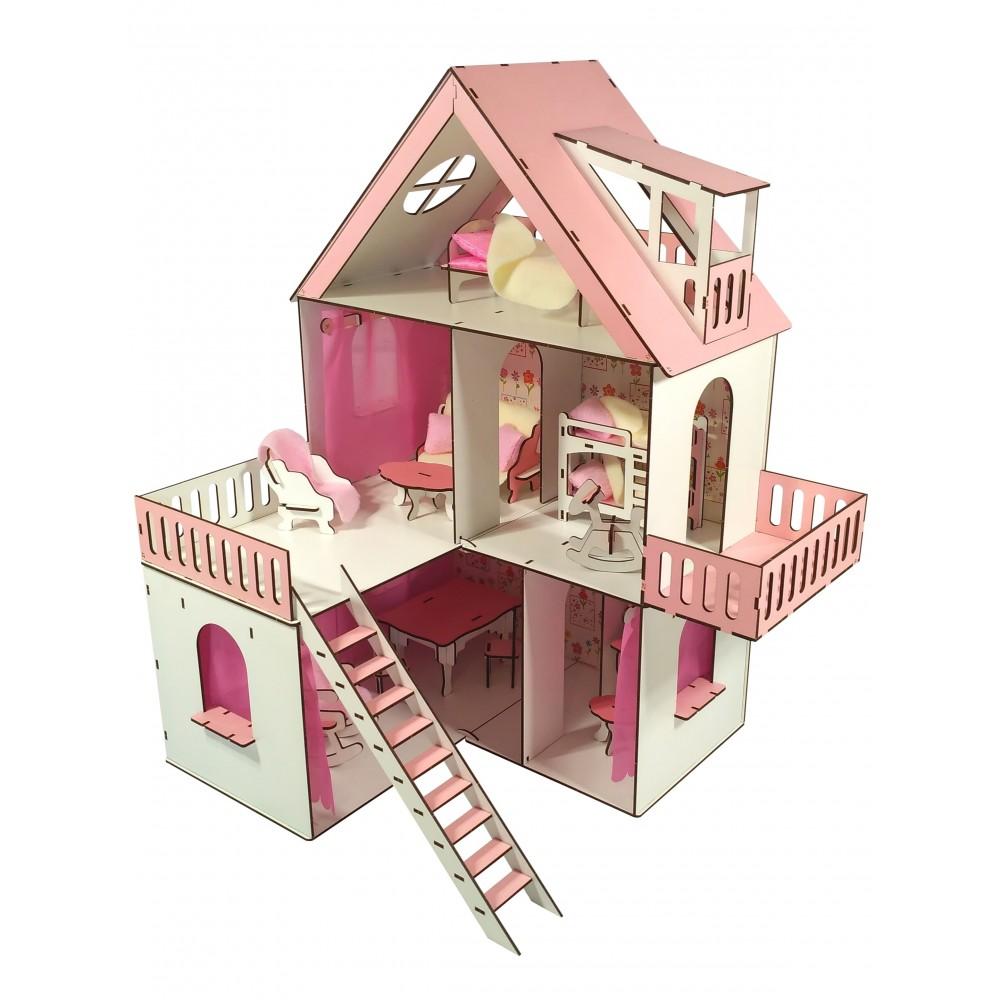 Кукольный домик Солнечная Дача + мебель в подарок