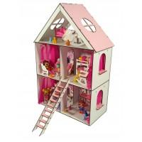 Кукольный домик LITTLE FUN maxi + мебель в подарок