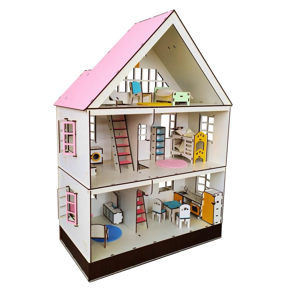 Кукольный домик Таунхаус LOL с мебелью и текстилем
