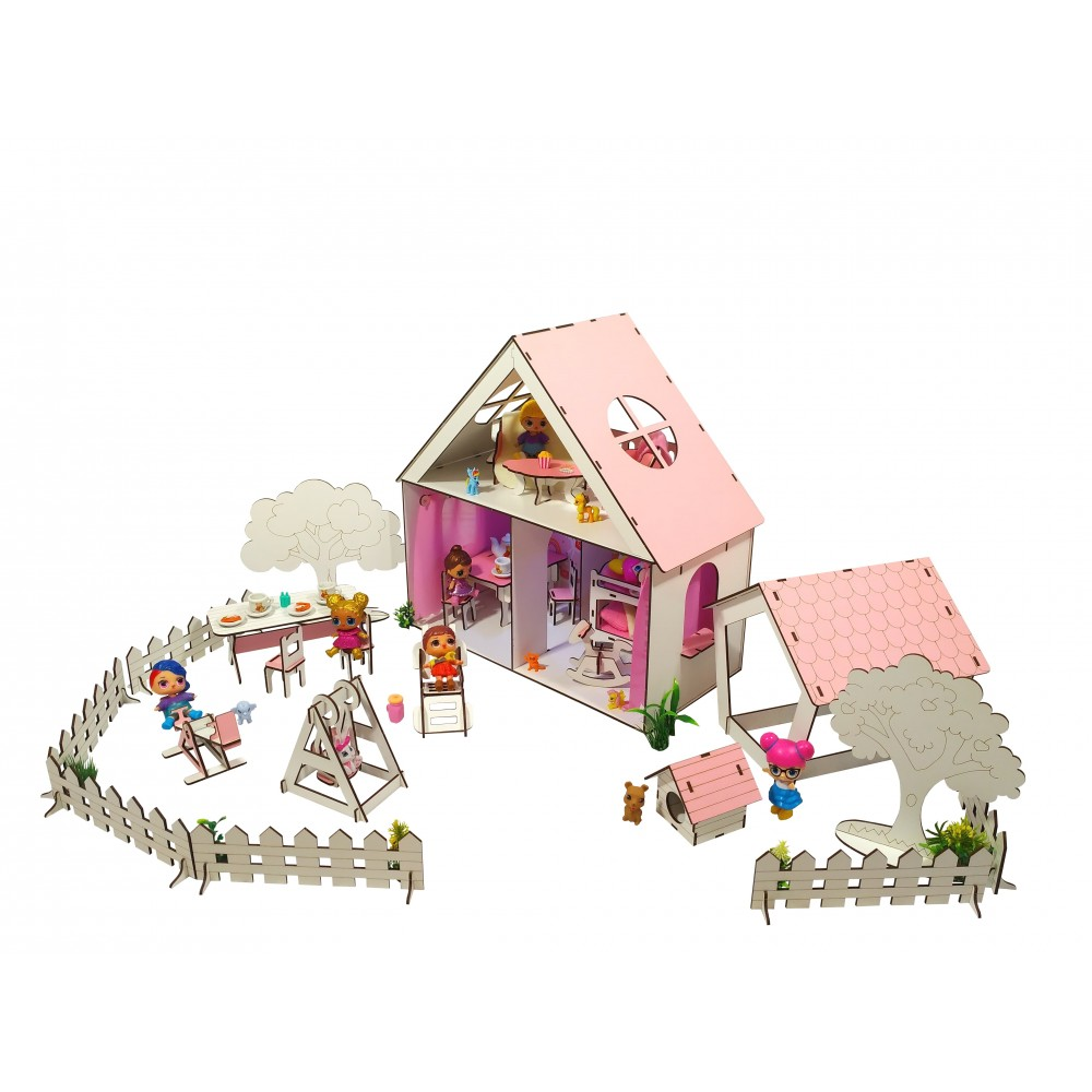 Кукольный домик LITTLE FUN с Двориком