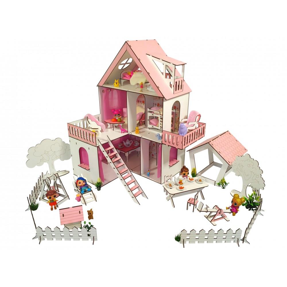 Кукольный домик Солнечная Дача с Двориком