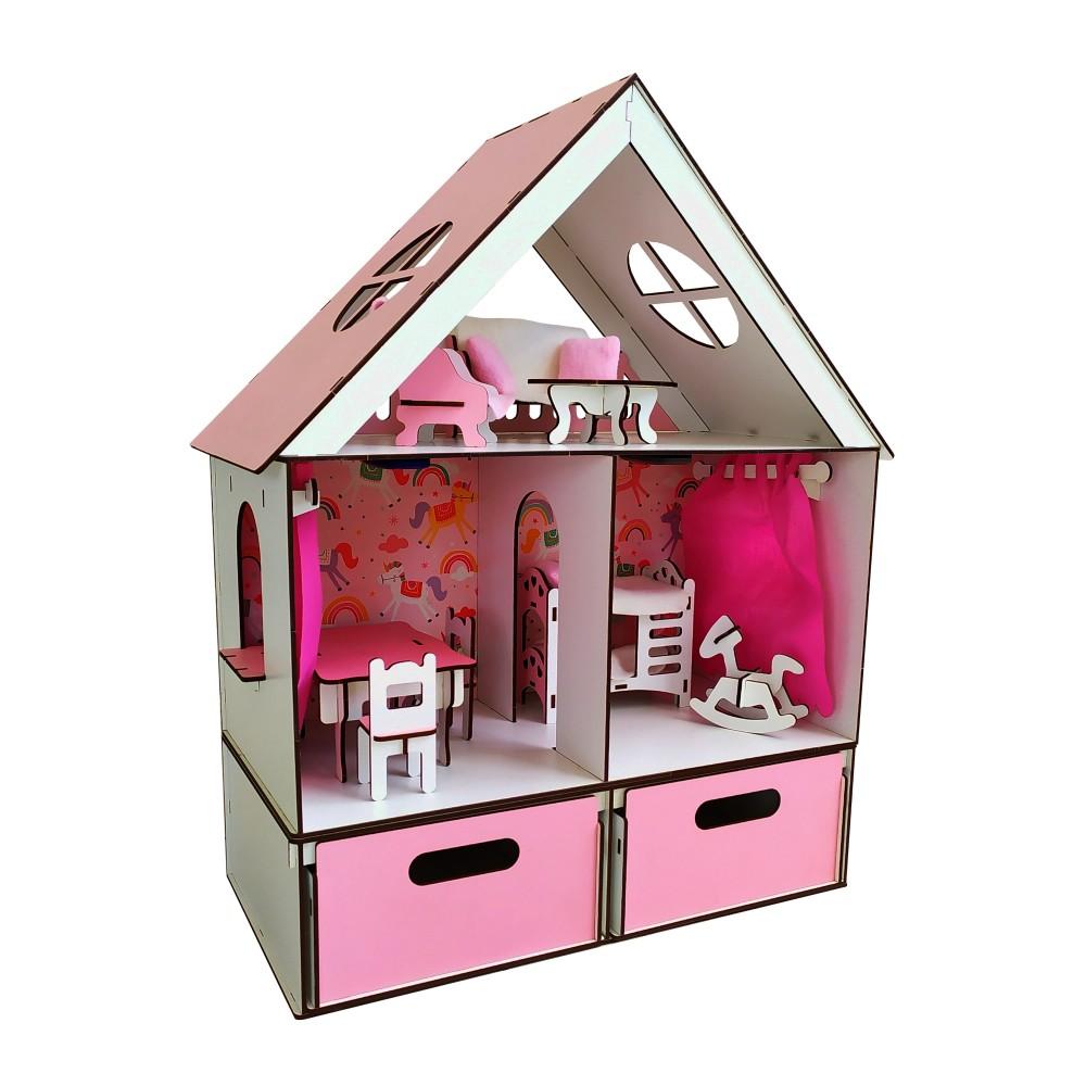 Кукольный домик LITTLE FUN + мебель и БОКС в подарок.