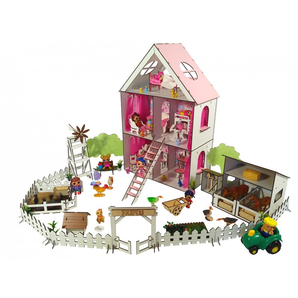 Кукольный домик LITTLE FUN maxi с Фермой