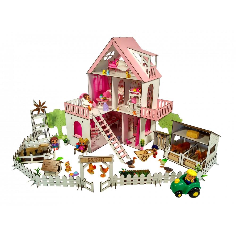 Кукольный домик Солнечная Дача с Фермой