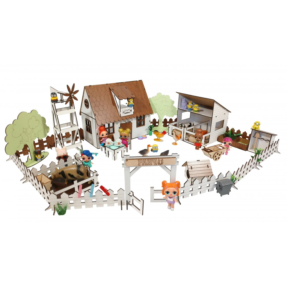 Кукольный Сельский Домик с Фермой