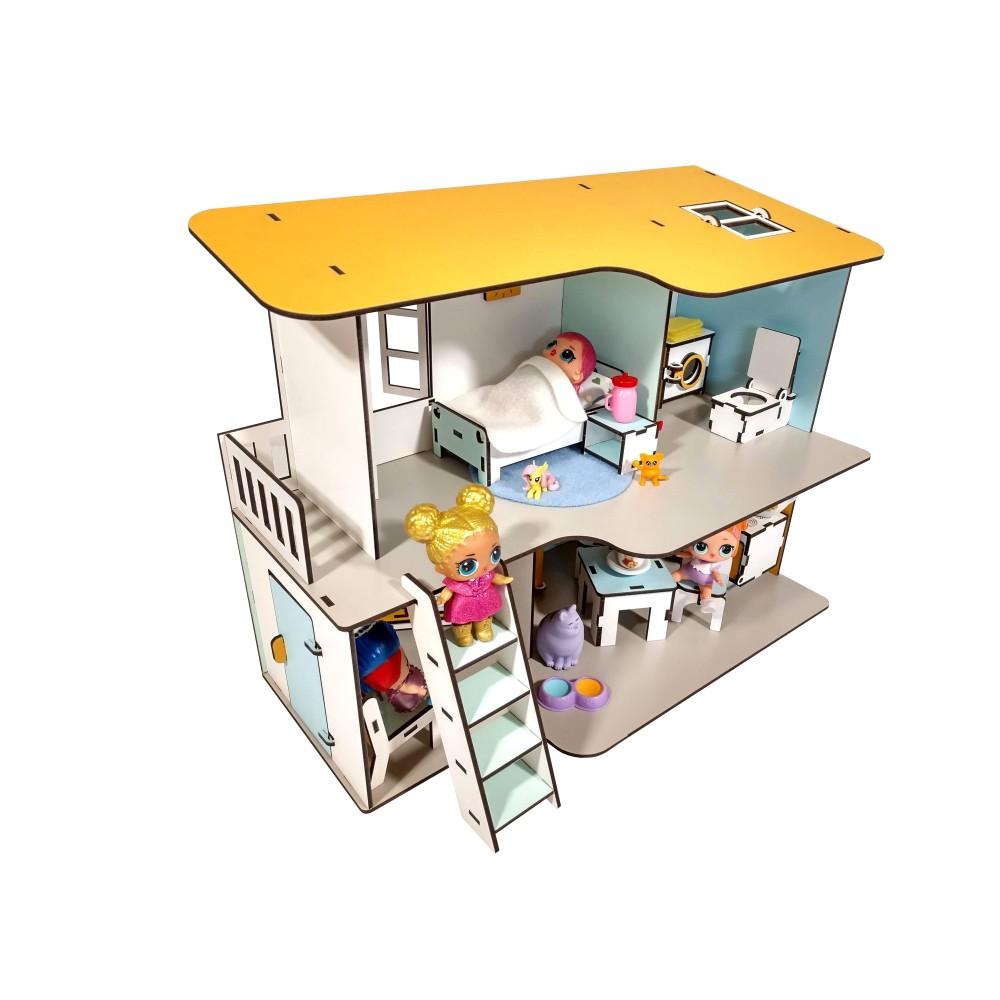 Кукольный Пляжный Домик + мебель в подарок
