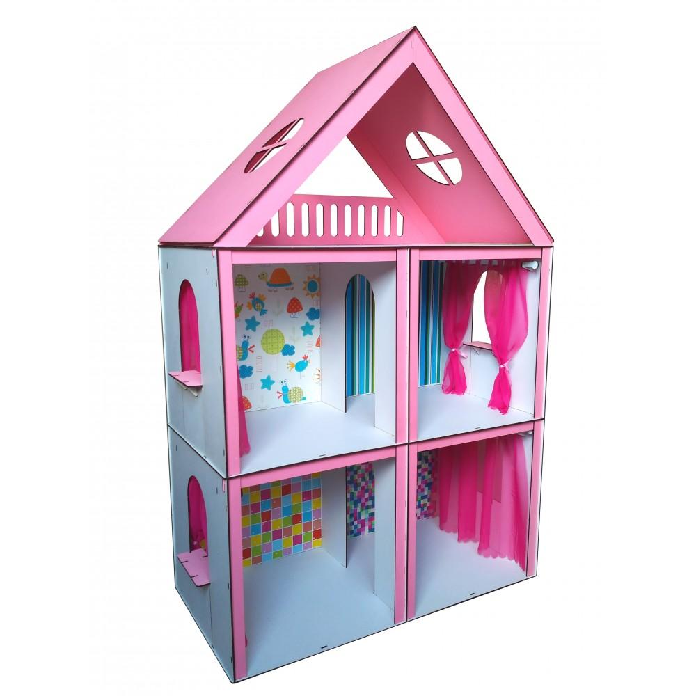 Кукольный домик Большой Особняк Барби с обоями