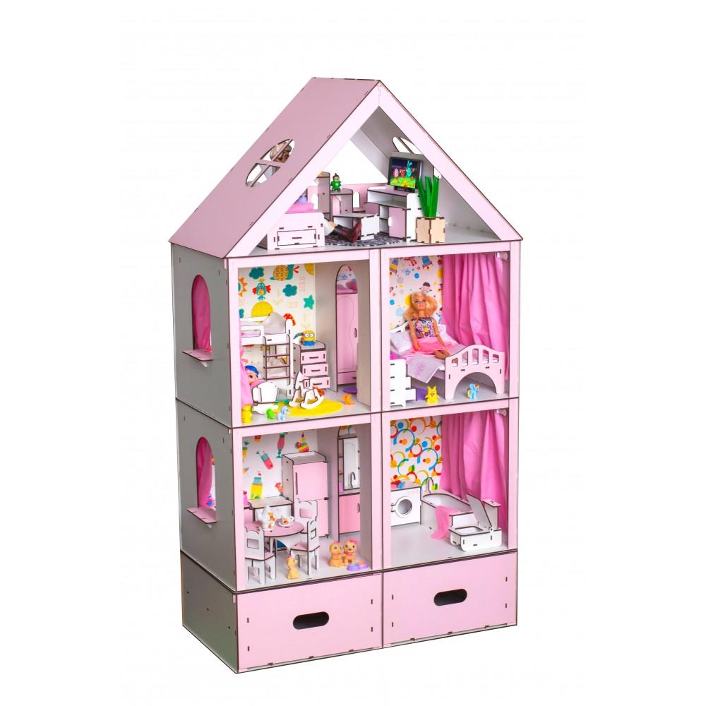 Кукольный домик Большой Особняк Барби LUX