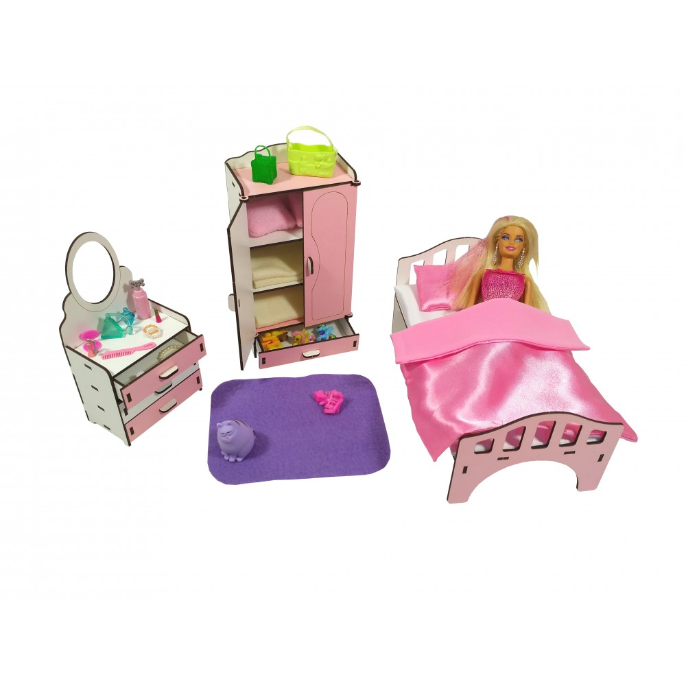 Набор игровой мебели Спальня для Барби