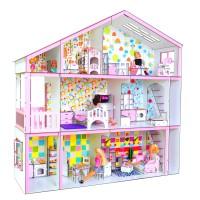 Кукольный Супер дом для Барби с секретом