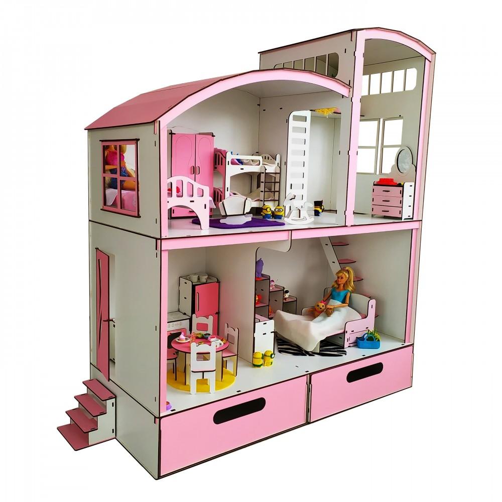 Кукольный домик Пентхаус Барби с мебелью и БОКСОМ для игрушек