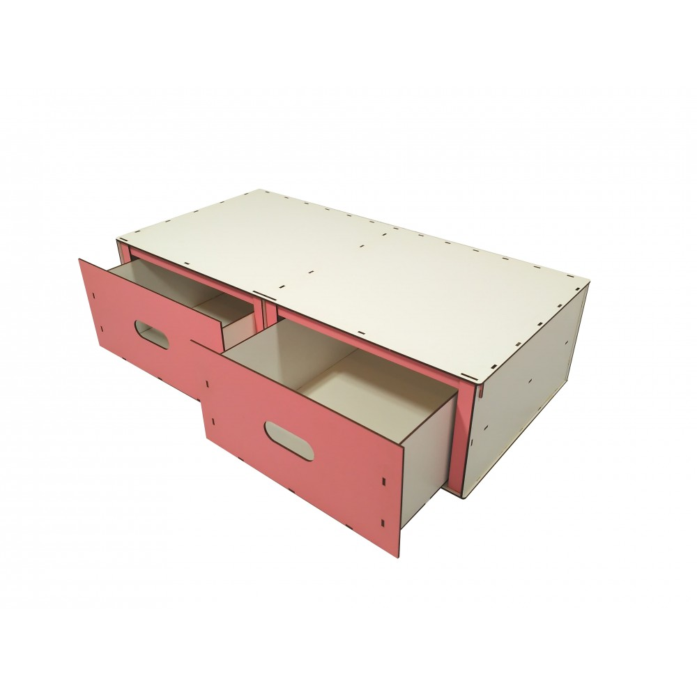 Крашеный BOX для игрушек с выдвижными ящиками