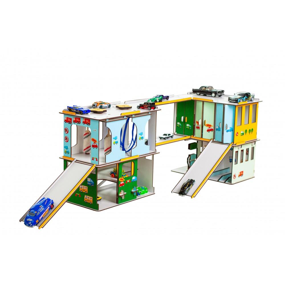 Игровой набор Детский Автокомплекс + подарок ( 5 машинок)