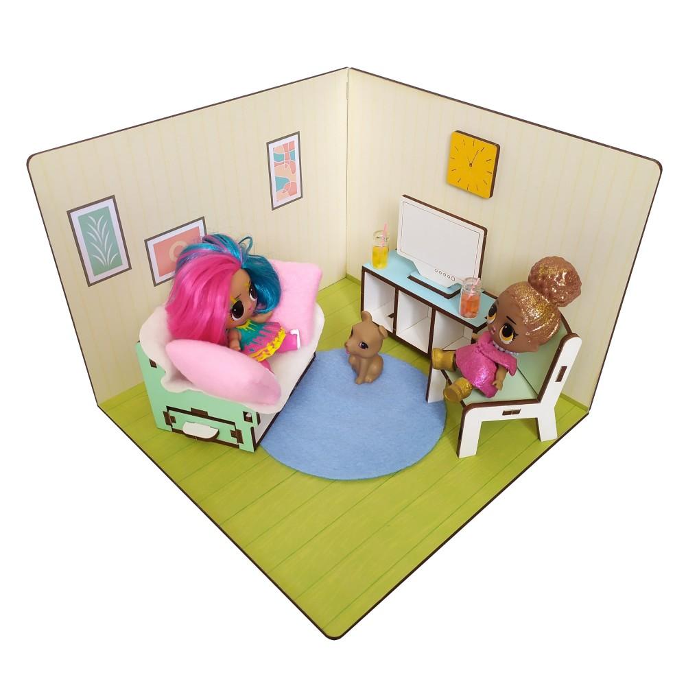 LOLBOX Гостиная с мебелью и текстилем